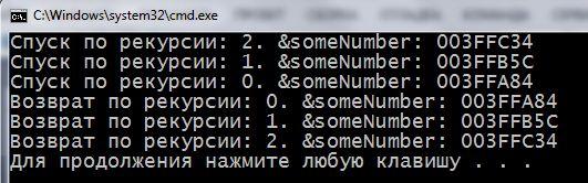 рекурсия с++, рекурсия c++