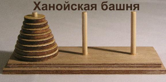 задача и решение, ханойская башня с++
