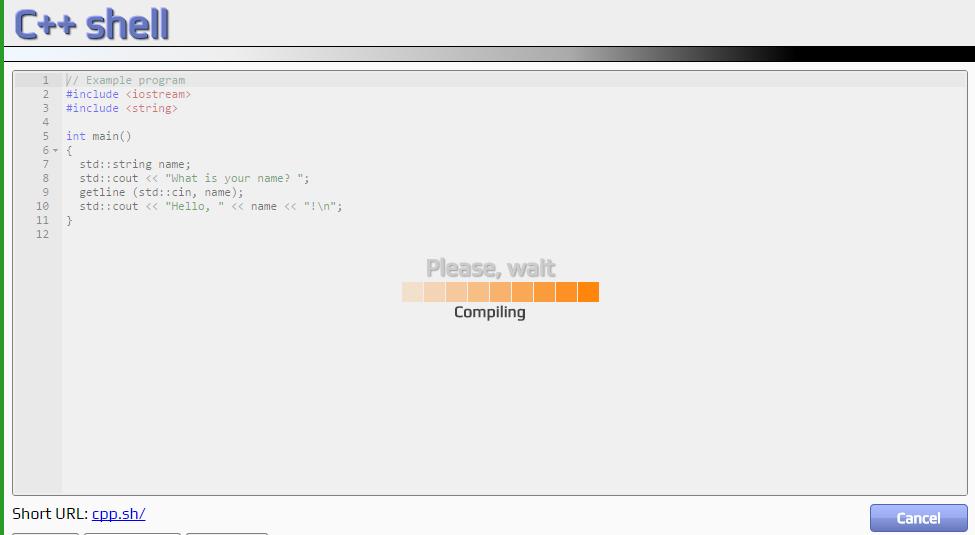 online-компилятор на primat.org